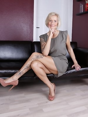 Horny German housewife getting very naughty