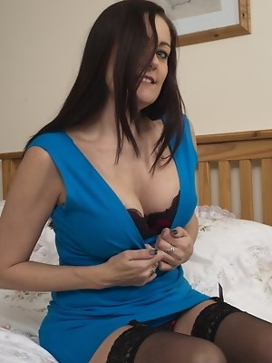 Horny British housewife getting ready to become dirty