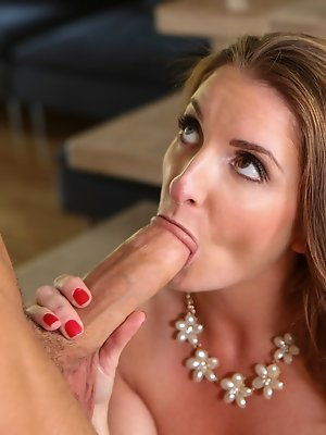 Silvia quenches her thirst for young cock